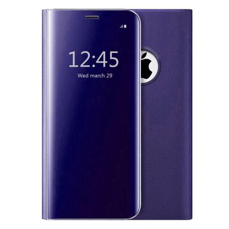 Husa iPhone 7 Plus / 8 Plus Clear View Flip Standing Cover (Oglinda) Mov (Purple) 0