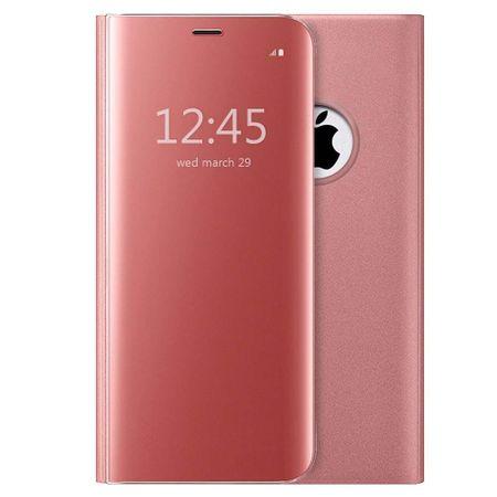 Husa iPhone 7 Plus / 8 Plus Clear View Flip Standing Cover (Oglinda) Roz (Rose Gold) 0