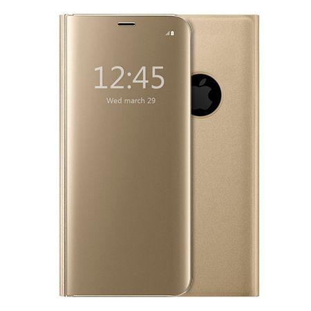 Husa iPhone 7 Plus / 8 Plus Clear View Flip Standing Cover (Oglinda) Auriu (Gold) 0