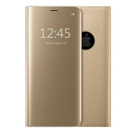 Husa iPhone 7 / 8 Clear View Flip Standing Cover (Oglinda) Auriu (Gold) 0