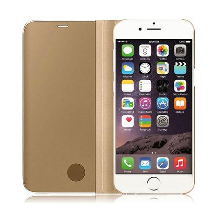 Husa iPhone 7 / 8 Clear View Flip Standing Cover (Oglinda) Auriu (Gold) 2