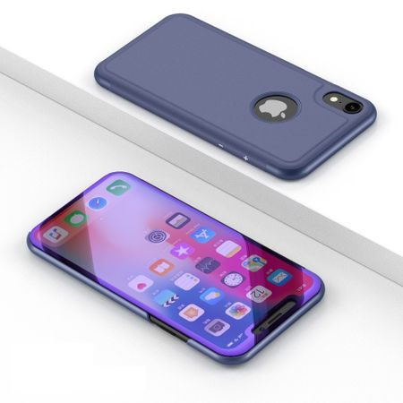 Husa iPhone X / XS  Clear View Flip Standing Cover (Oglinda) Mov (Purple) 1
