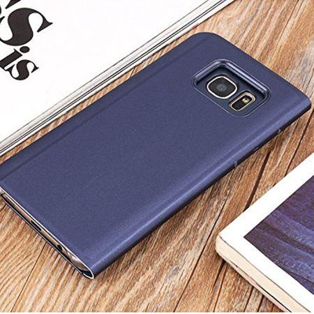 Husa Samsung Galaxy S7 Edge Clear View Flip Standing Cover (Oglinda) Mov (Purple) 1