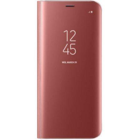 Husa Samsung Galaxy A5 2017 Clear View Flip Standing Cover (Oglinda) Roz (Rose Gold) 0