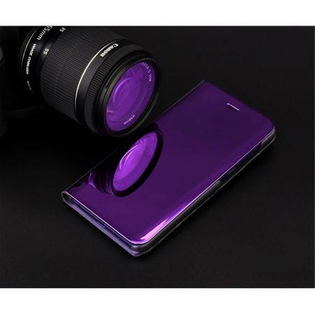 Husa Samsung Galaxy A5 / A8 2018 Clear View Flip Standing Cover (Oglinda) Mov (Purple) 1