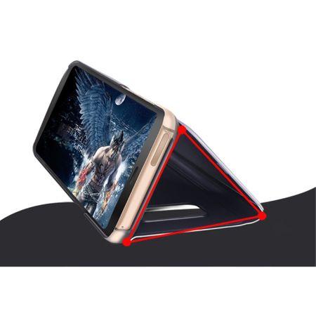 Husa Samsung Galaxy A5 / A8 2018 Clear View Flip Standing Cover (Oglinda) Mov (Purple) 2