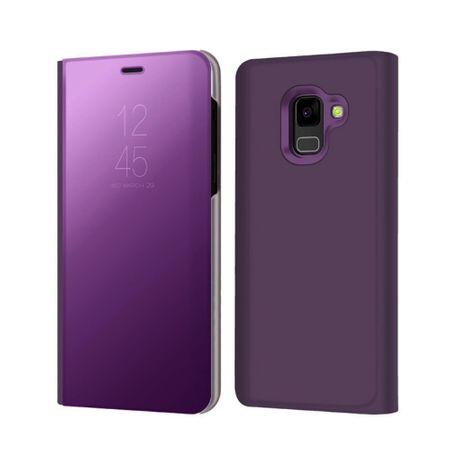 Husa Samsung Galaxy A5 / A8 2018 Clear View Flip Standing Cover (Oglinda) Mov (Purple) 0