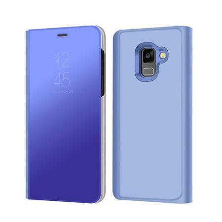 Husa Samsung Galaxy A5 / A8 2018 Clear View Flip Standing Cover (Oglinda) Albastru (Blue) 0