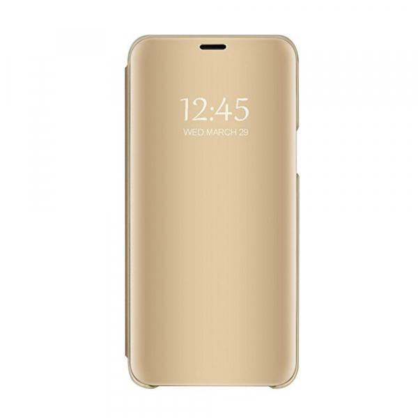 Husa Samsung Galaxy A7 2018 Clear View Flip Standing Cover (Oglinda) Auriu (Gold) 0