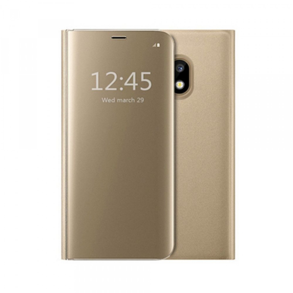 Husa Samsung Galaxy J5 2017 Clear View Flip Standing Cover (Oglinda) Auriu (Gold) 0