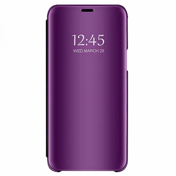 Husa Samsung Galaxy A6 Plus (2018) Clear View Flip Standing Cover (Oglinda) Mov (Purple)