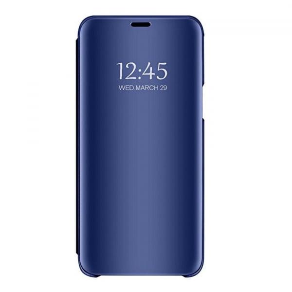 Husa Samsung Galaxy J4+ ( J4 Plus) 2018 Clear View Flip Standing Cover (Oglinda) Albastru (Blue) 0