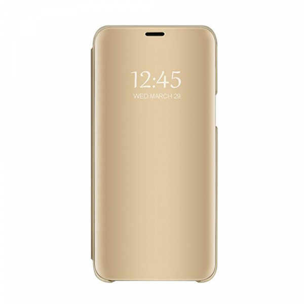 Husa Huawei Y5 2018 Clear View Flip Standing Cover (Oglinda) Auriu (Gold) [0]