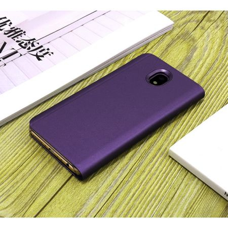 Husa Samsung Galaxy J7 2017 Clear View Flip Standing Cover (Oglinda) Mov (Purple) 2