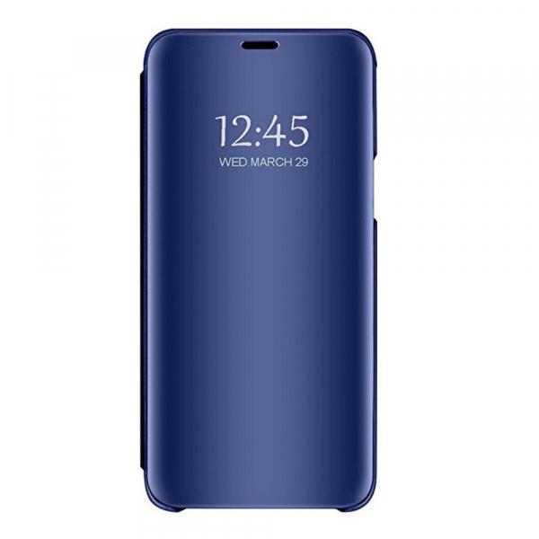 Husa Samsung Galaxy J6 Plus (+) 2018 Clear View Flip Standing Cover (Oglinda) Albastru (Blue) 3
