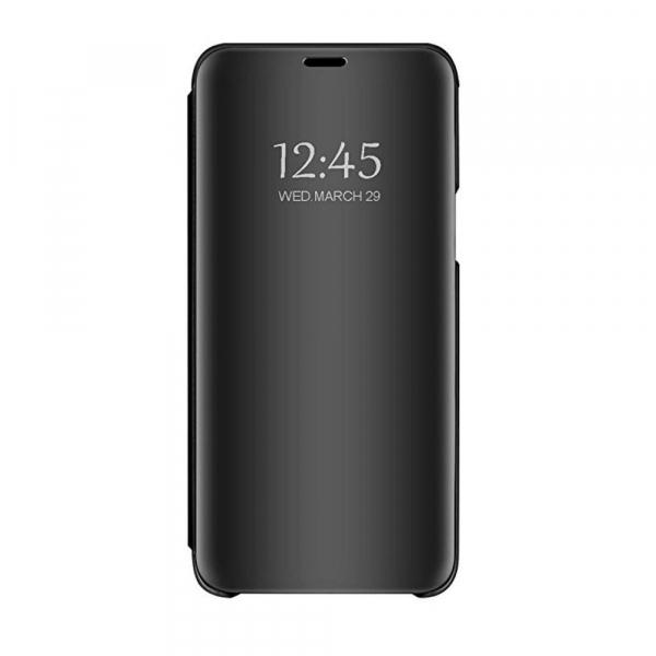 Husa Huawei Y5 2018 Clear View Flip Standing Cover (Oglinda) Negru (Black) 0
