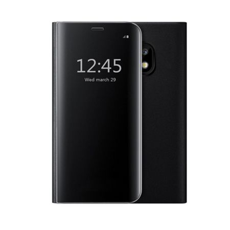 Husa Samsung Galaxy J7 2017 Clear View Flip Standing Cover (Oglinda) Negru (Black)
