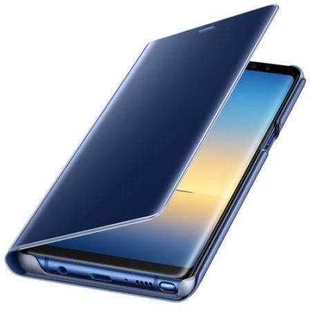 Husa Samsung Galaxy Note 8 Clear View Flip Standing Cover (Oglinda) Albastru (Blue) 2
