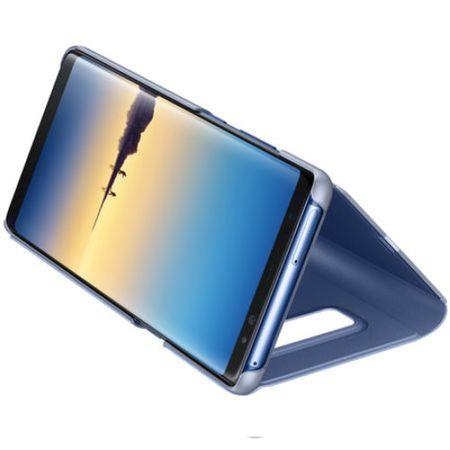 Husa Samsung Galaxy Note 8 Clear View Flip Standing Cover (Oglinda) Albastru (Blue) 3