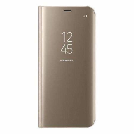 Husa Samsung Galaxy S8 Plus Clear View Flip Standing Cover (Oglinda) Auriu (Gold) 0