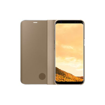 Husa Samsung Galaxy S8 Plus Clear View Flip Standing Cover (Oglinda) Auriu (Gold) 1