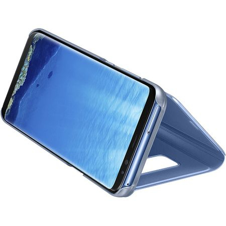 Husa Samsung Galaxy S8 Plus Clear View Flip Standing Cover (Oglinda) Albastru (Blue) 2