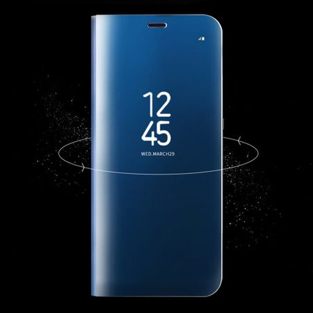 Husa Samsung Galaxy S8 Plus Clear View Flip Standing Cover (Oglinda) Albastru (Blue) 5