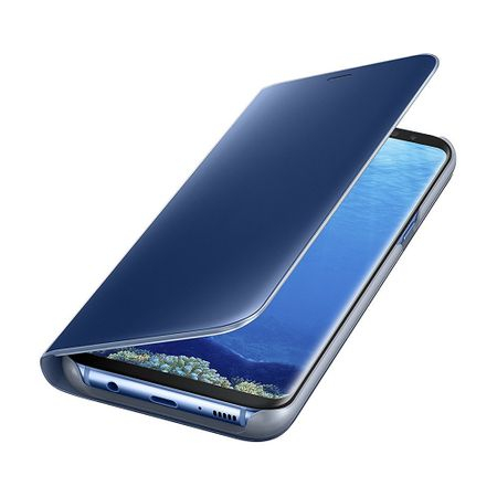 Husa Samsung Galaxy S8 Plus Clear View Flip Standing Cover (Oglinda) Albastru (Blue) 1