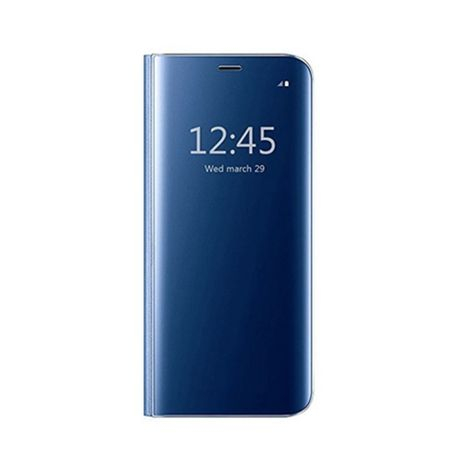 Husa Samsung Galaxy S9 Clear View Flip Standing Cover (Oglinda) Albastru (Blue)