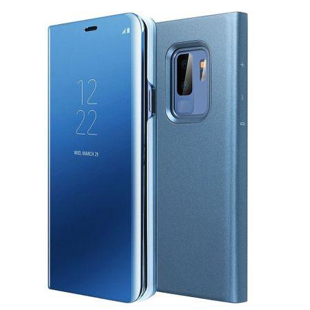 Husa Samsung Galaxy S9 Plus Clear View Flip Standing Cover (Oglinda) Albastru (Blue) 0