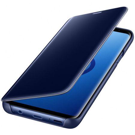 Husa Samsung Galaxy S9 Plus Clear View Flip Standing Cover (Oglinda) Albastru (Blue) 1