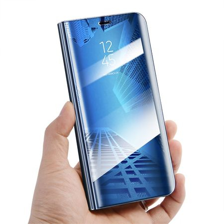 Husa Samsung Galaxy S9 Plus Clear View Flip Standing Cover (Oglinda) Albastru (Blue) 2