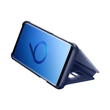 Husa Samsung Galaxy S9 Plus Clear View Flip Standing Cover (Oglinda) Albastru (Blue) 4