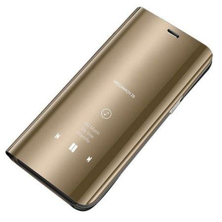 Husa Samsung Galaxy S9 Clear View Flip Standing Cover (Oglinda) Auriu (Gold) 1