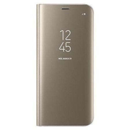 Husa Samsung Galaxy S9 Clear View Flip Standing Cover (Oglinda) Auriu (Gold) 0