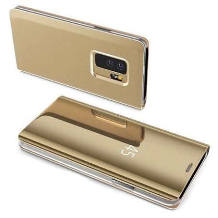 Husa Samsung Galaxy S9 Clear View Flip Standing Cover (Oglinda) Auriu (Gold) 2