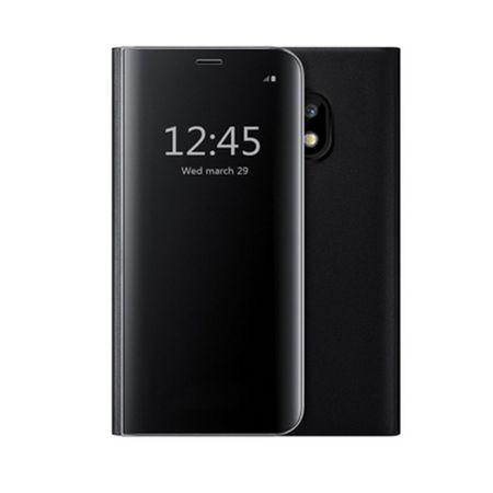 Husa Samsung J3 2017 Clear View Flip Standing Cover (Oglinda) Negru (Black) 0