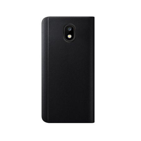 Husa Samsung J3 2017 Clear View Flip Standing Cover (Oglinda) Negru (Black) 2