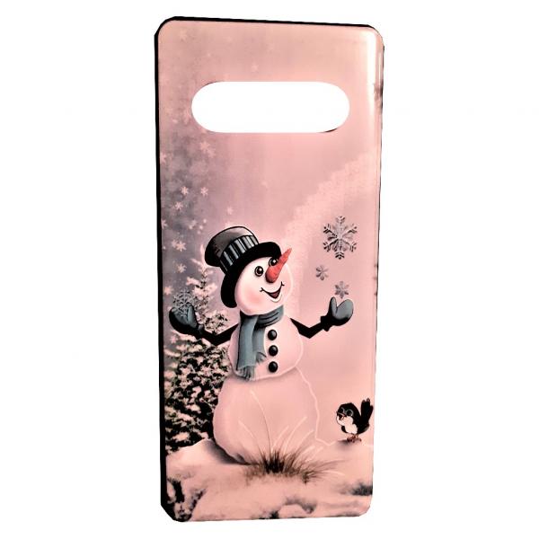Husa de protectie Samsung Galaxy S10 2019 Model de Craciun 3D Om de Zapada Personalizata 0