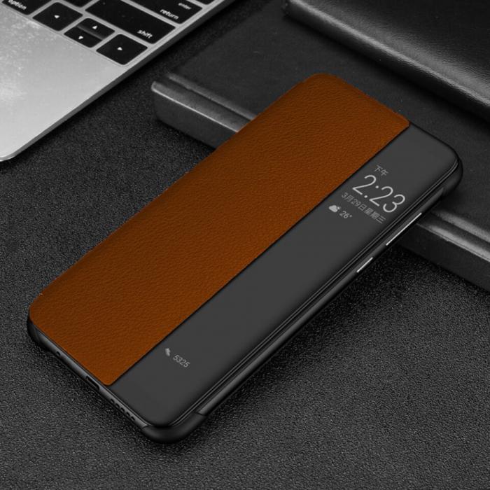 Husa Flip Samsung A21S Portocaliu Tip Carte Art 1