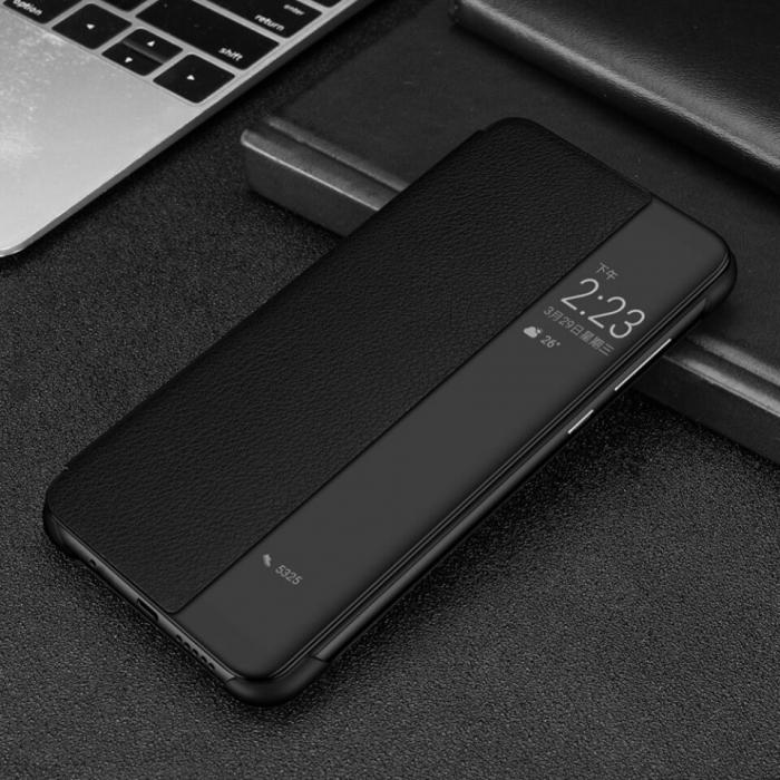 Husa Flip Samsung A42 5G Negru Tip Carte Art 1