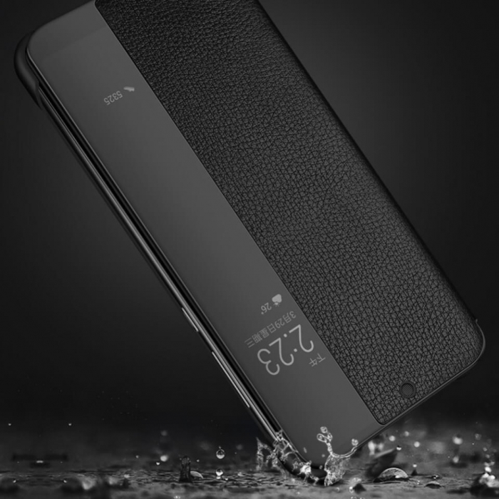 Husa Flip Samsung A42 5G Negru Tip Carte Art 3