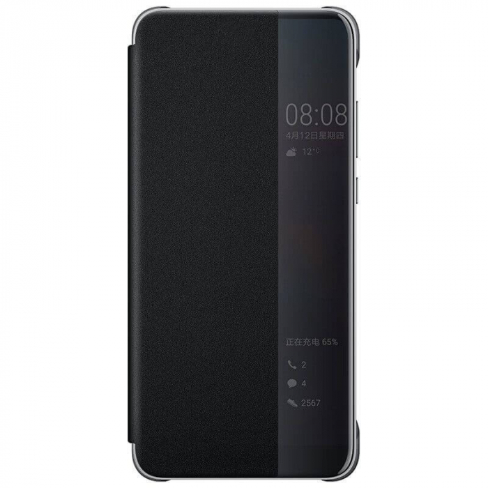 Husa Flip Samsung A71 Negru Tip Carte Art 0