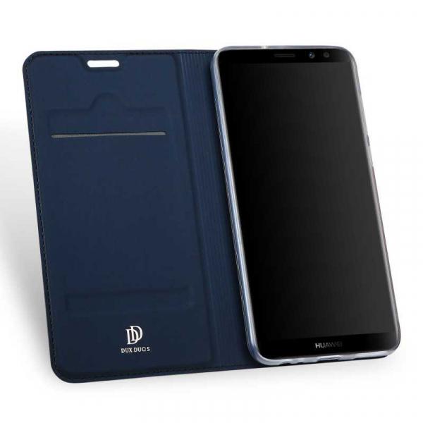 Husa Huawei Mate 10 Lite 2017 Toc Flip Tip Carte Portofel Bleumarin Piele Eco Premium DuxDucis 1
