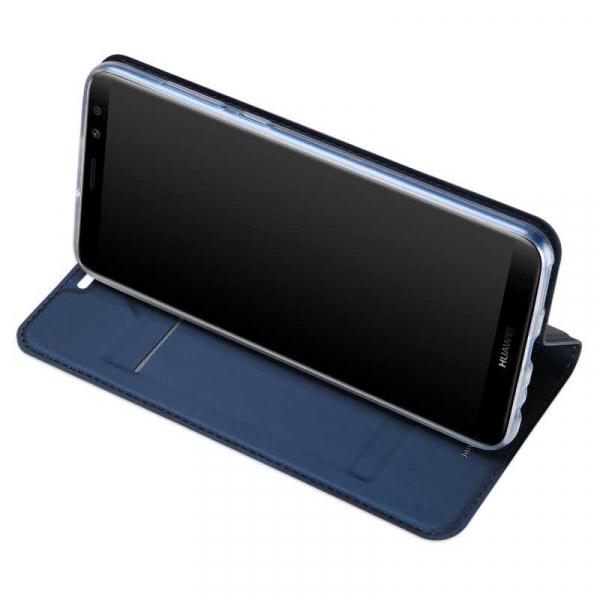 Husa Huawei Mate 10 Lite 2017 Toc Flip Tip Carte Portofel Bleumarin Piele Eco Premium DuxDucis 2
