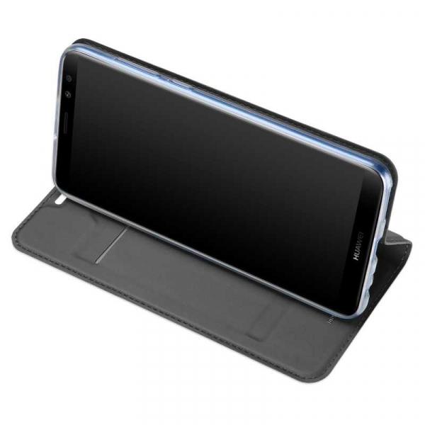 Husa Huawei Mate 10 Lite 2017 Toc Flip Tip Carte Portofel Negru Piele Eco Premium DuxDucis 2
