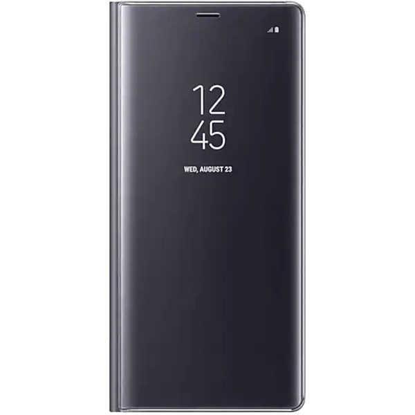 Husa Huawei Mate 10 Lite Clear View Flip Toc Carte Standing Cover Oglinda Negru 0