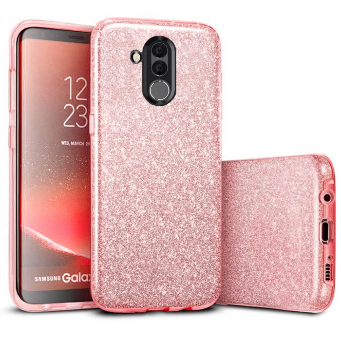 Husa Huawei Mate 20 Lite 2018 Sclipici Carcasa Spate Roz Silicon TPU 0