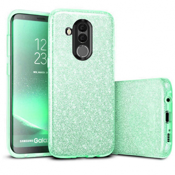 Husa Huawei Mate 20 Lite 2018 Sclipici Carcasa Spate Verde Silicon TPU 0