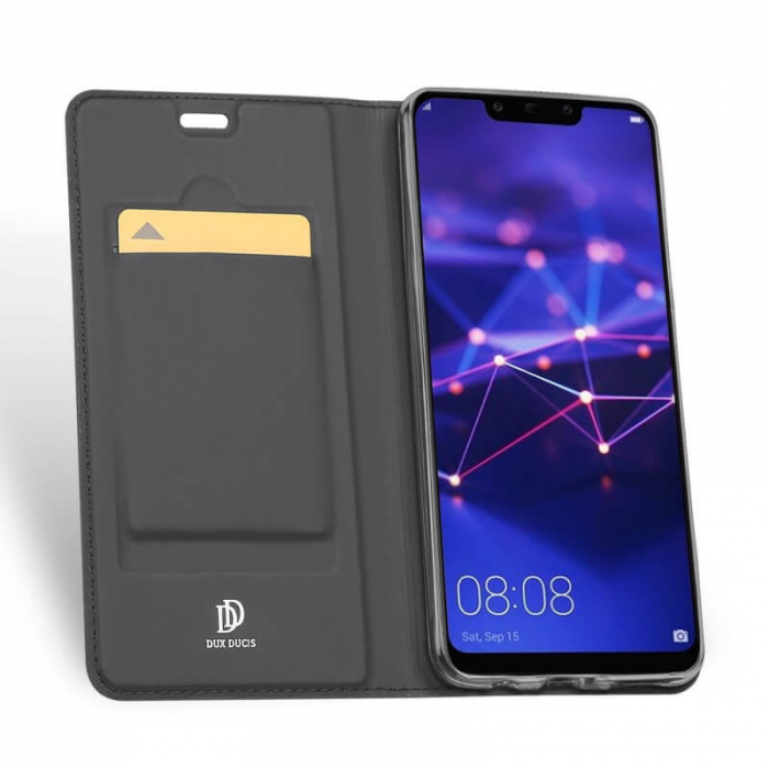 Husa Huawei Mate 20 Lite 2018 Toc Flip Tip Carte Portofel Negru Piele Eco Premium DuxDucis [1]